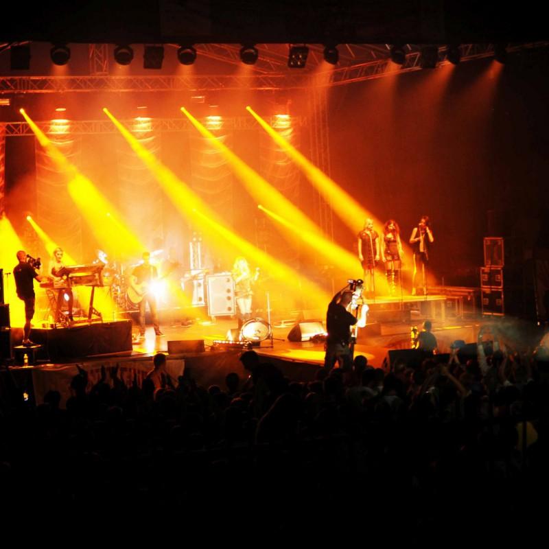 Jastrzębie Zdrój - oświetlenie koncertu