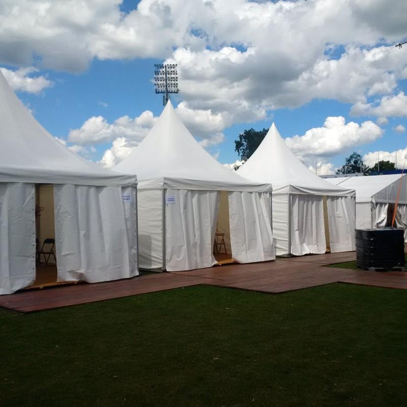 Dni rybnika - przygotowanie estrady namioty dla artystów