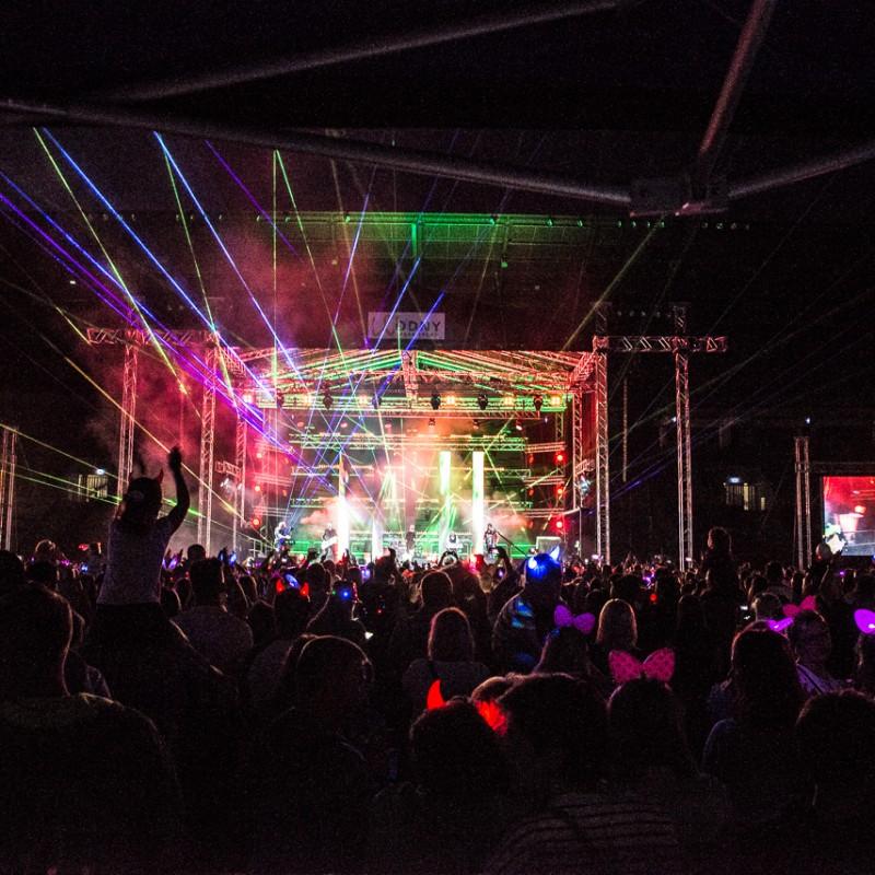 disco polo, oświetlenie