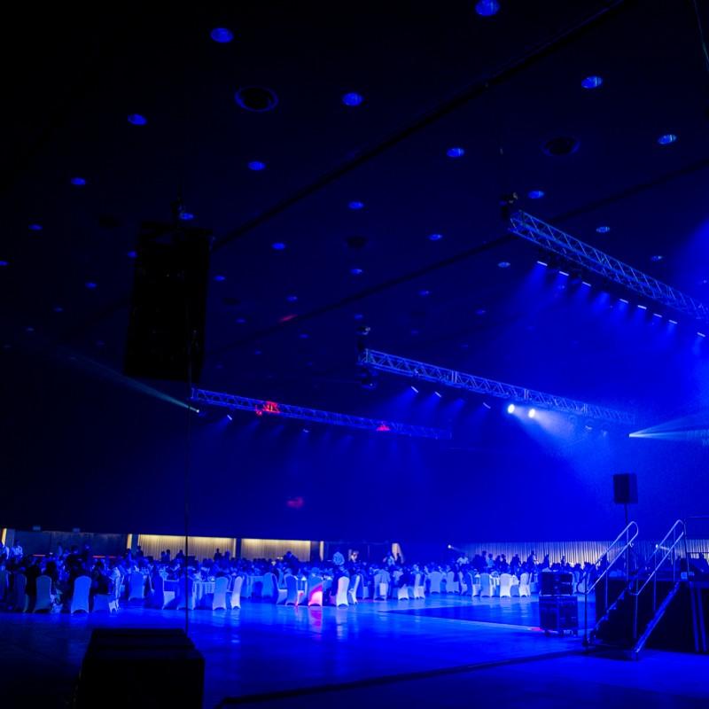 gra świateł, event