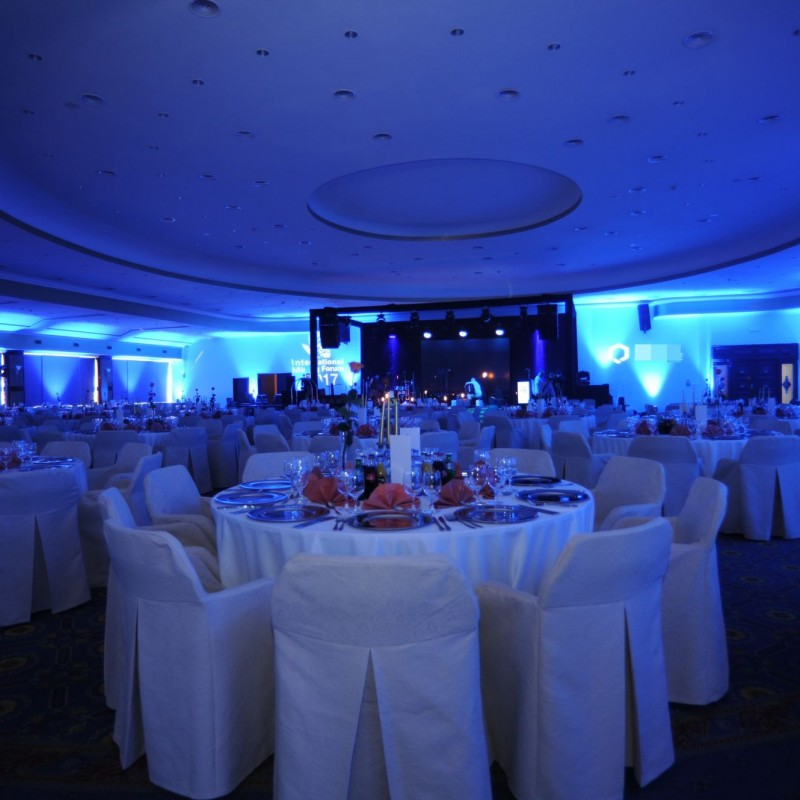 przed eventem, oświetlenie